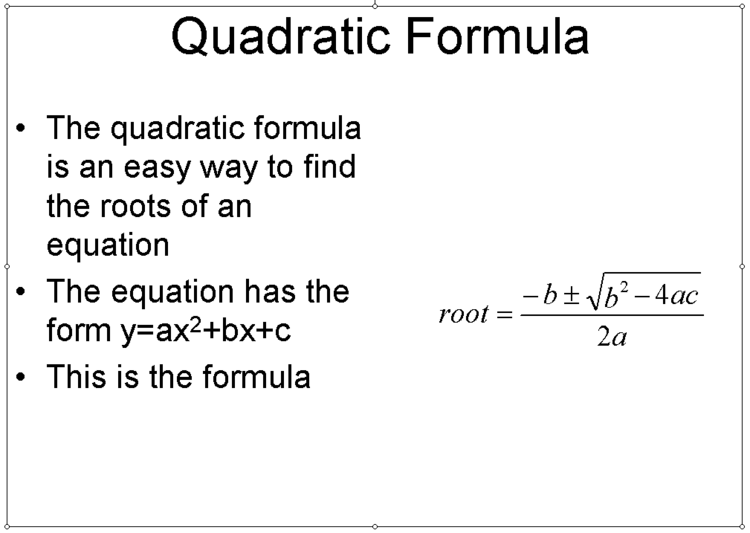 Making Good Looking Equations In Powerpoint Presentations Eg1003