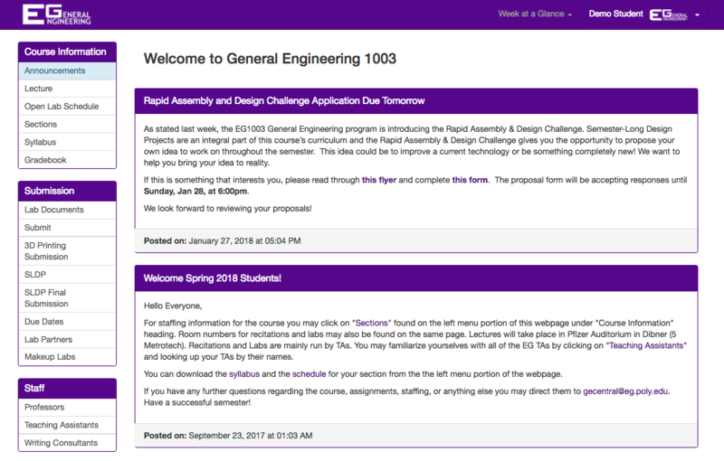 How to Submit Work to the EG1003 Website - EG1003 Lab Manual
